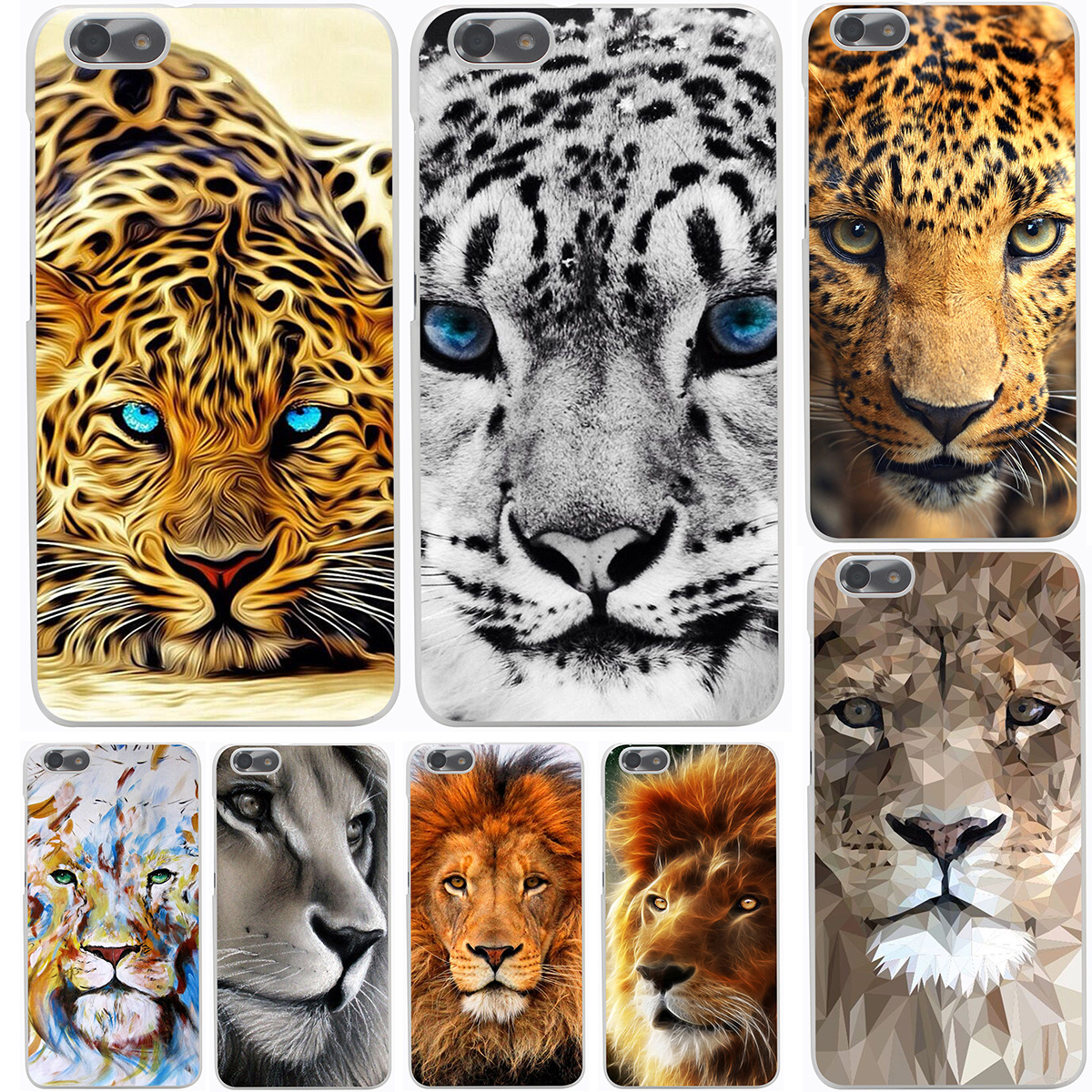 Lion tiger head Hard Cover Case for Huawei P6 7 P8 Lite P9 Lite Plus G7 & Honor 4C 4X 6 7(China (Mainland))