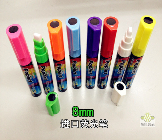 8mm handwritten led neon board neon pen pop neon pen croons blackboard mirror