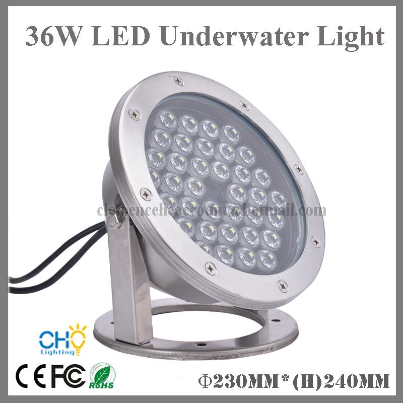 Free shipping 2pcs wholesales 36w IP68 waterproof led underwater light swimming pool fountain lamp(China (Mainland))