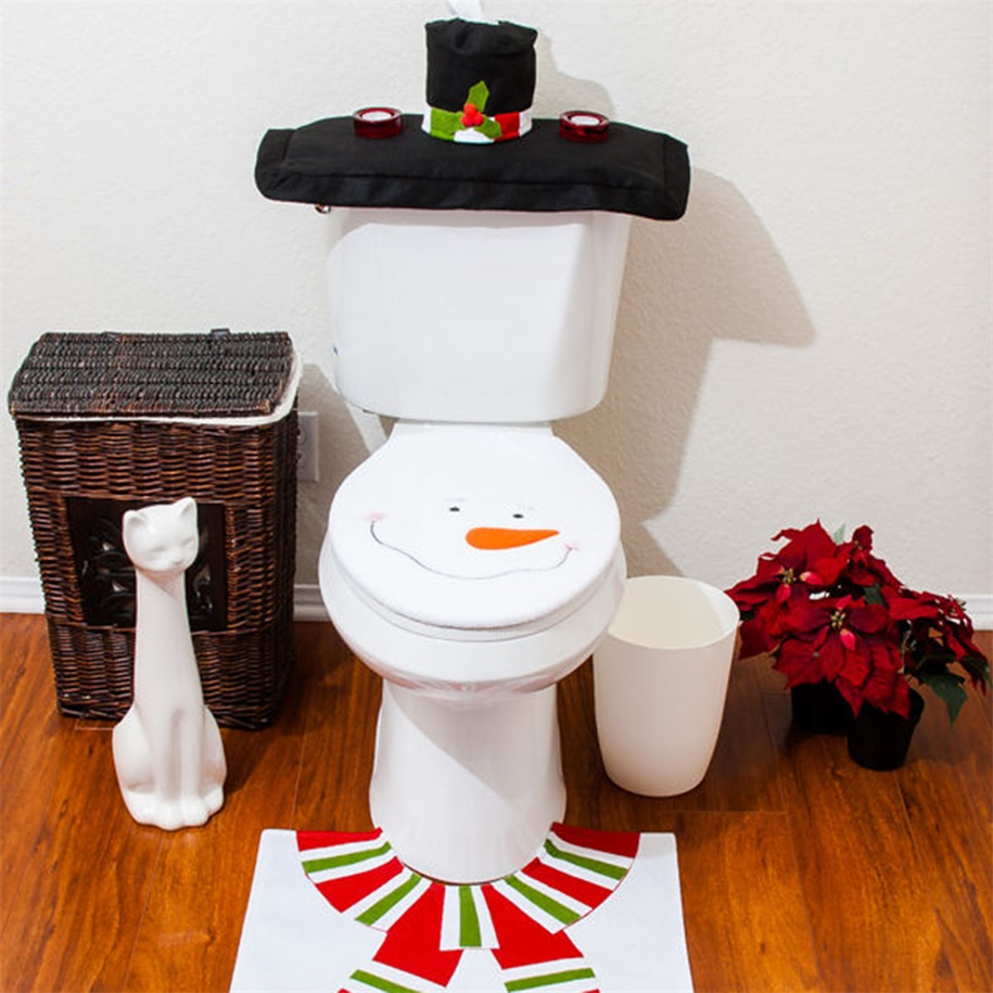 snowman bathroom set 28 images xmas snowman toilet seat cover rug bathroom set snowman. Black Bedroom Furniture Sets. Home Design Ideas