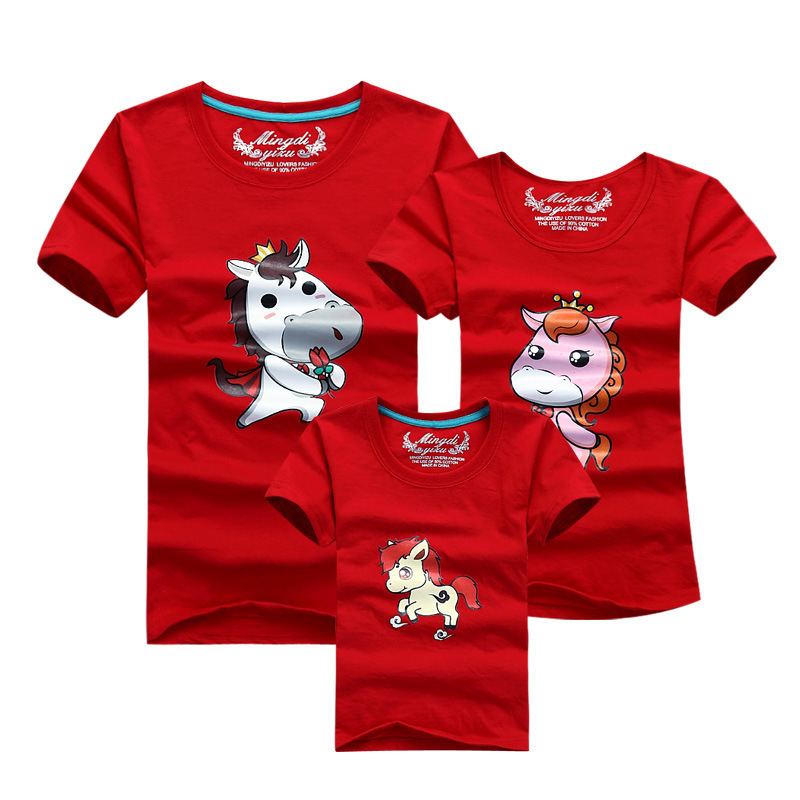 T Shirts Cartoon Characters : New arrival printed cartoon character family t shirts