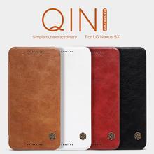 For LG Nexus 5X Case Original Nillkin Qin Series Leather Case Wallet Flip Cover Phone Bag Case For Google Nexus 5x Nexus5X(China (Mainland))