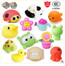 Baby Bath Toys 13pcs/set Soft Rubber cartoon Animals Kids Water Toys Squeeze Sound water toys Beach Bathroom Toys For Children