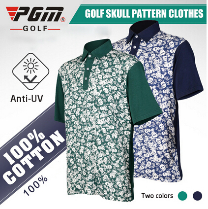 pgm golf men s apparel short shirt golf clothing anti uv cotton new polo t. Black Bedroom Furniture Sets. Home Design Ideas