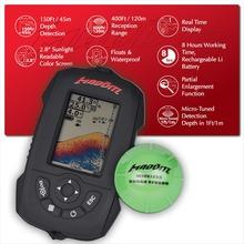 Russian/English/Spanish Menu Wireless Sonar Portable Fish Finder Sensor Echo Sounder Alarm River Lake Sea Bed Live 150ft/45M(China (Mainland))