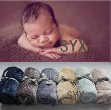 2016 new products(100cmX70cm) Baby Posing Backdrop Super Soft Fur Blanket Newborn photography props   Does not include  ribbon(China (Mainland))
