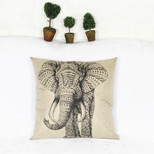 Buy New Simple Fashion Elephone linen Throw Pillow Cases Home Decorative Cushion Pillow Cover Square for $2.81 in AliExpress store