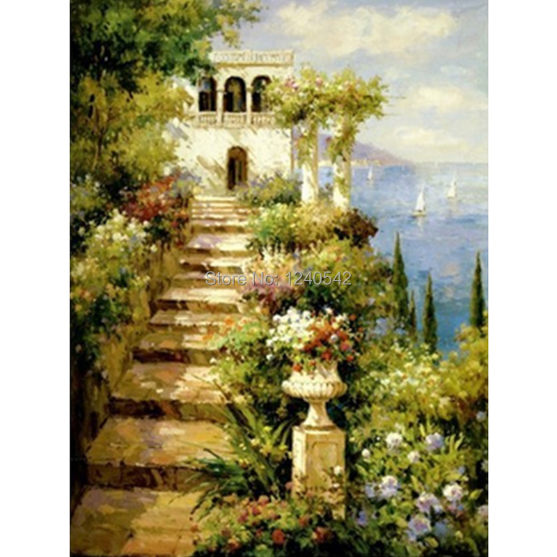 DIY diamond painting diamond embroidery landscape cross stitch sewing knitting needles pictures of rhinestones home decoration(China (Mainland))