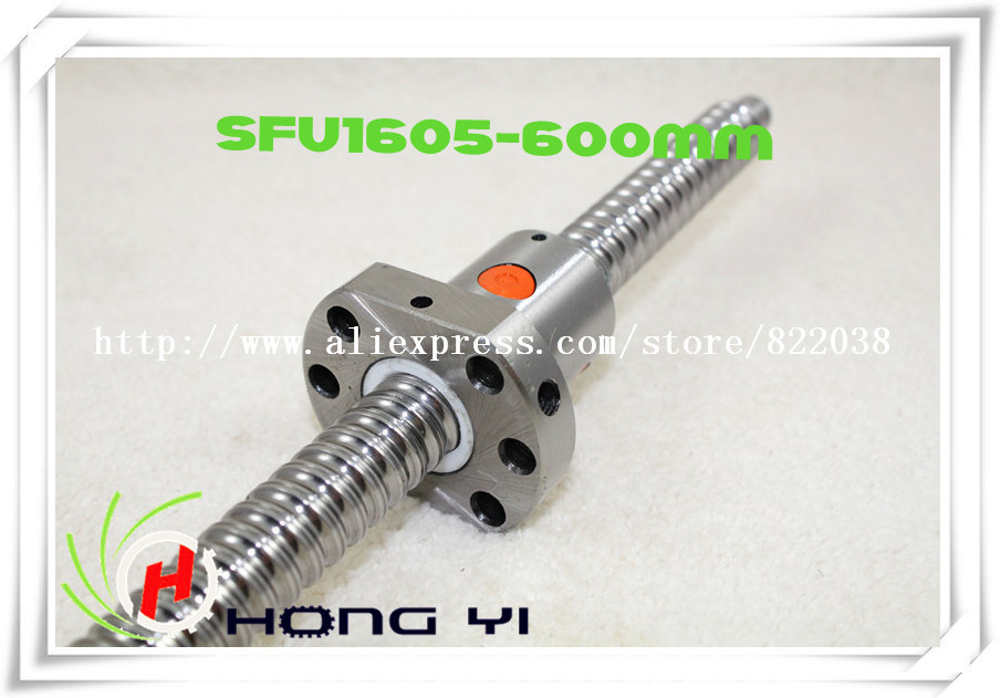 16mm 1605 Ball Screw Rolled ballscrew 1pc SFU1605 L600mm with 1pc 1605 Flange single ballnut for CNC part paola reina горди без одежды 34 см 34021