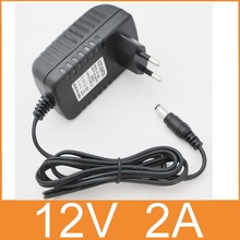 1PCS 12V2A AC 100V-240V Converter Adapter DC 12V 2A 2000mA Power Supply EU Plug  5.5mm x 2.1-2.5mm for LED CCTV Free  shipping(China (Mainland))