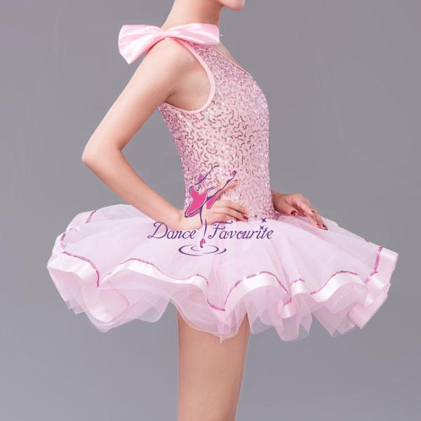 m dchen rosa ballett tutu pailletten kleid f r tanzen kind. Black Bedroom Furniture Sets. Home Design Ideas
