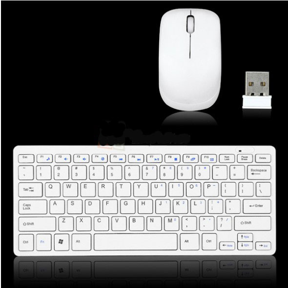 2.4GHz Mini Optical Wireless 78 Key Keyboard and Mouse USB Dongle Kit For PC