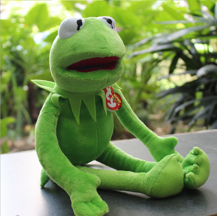 14'' 40cm 2015 new Kermit plush toys Sesame Street doll animal Kermit Toy plush frog doll holiday gift free shipping(China (Mainland))
