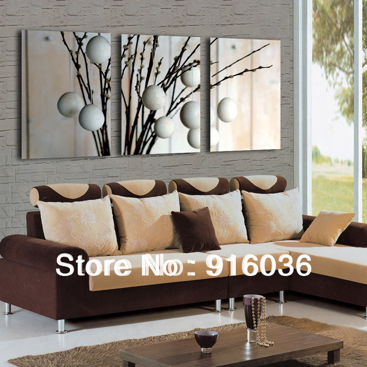 Free Shipping 3 Panels Art Hot Sale Modern Decorative Painting Picture Canvas Living Room
