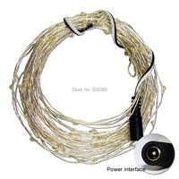 33ftwhite100 светодиоды 5v строка Серебряный медный провод привело света большой для украшения спальни сторона сада Сингапур пост