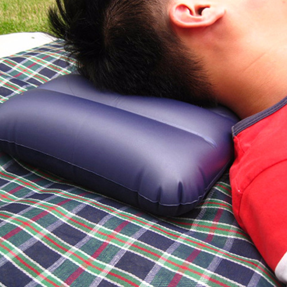 1 pcs Inflatable Camping Pillow Dark Blue Large Inflatable Camping Pillow Travel Flocking Outdoor Home Office(China (Mainland))