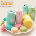 Universal Fashion Lovely Cute Cartoon Milk Bottle Power Bank 10000mAh 18650 Portable External Battery Pack Chargeing
