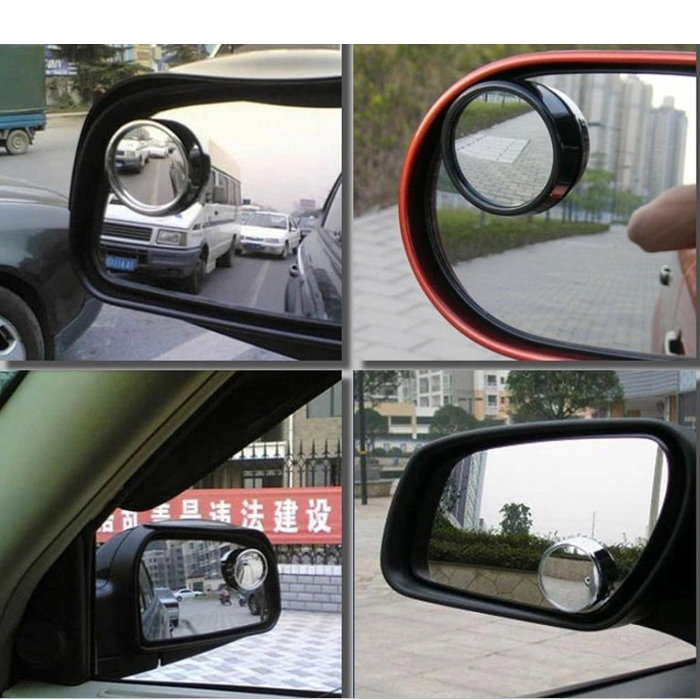 Car review mirror small round mirror, Driving parking assistance, Car rearview mirror monitor auto accessories 1pair(China (Mainland))