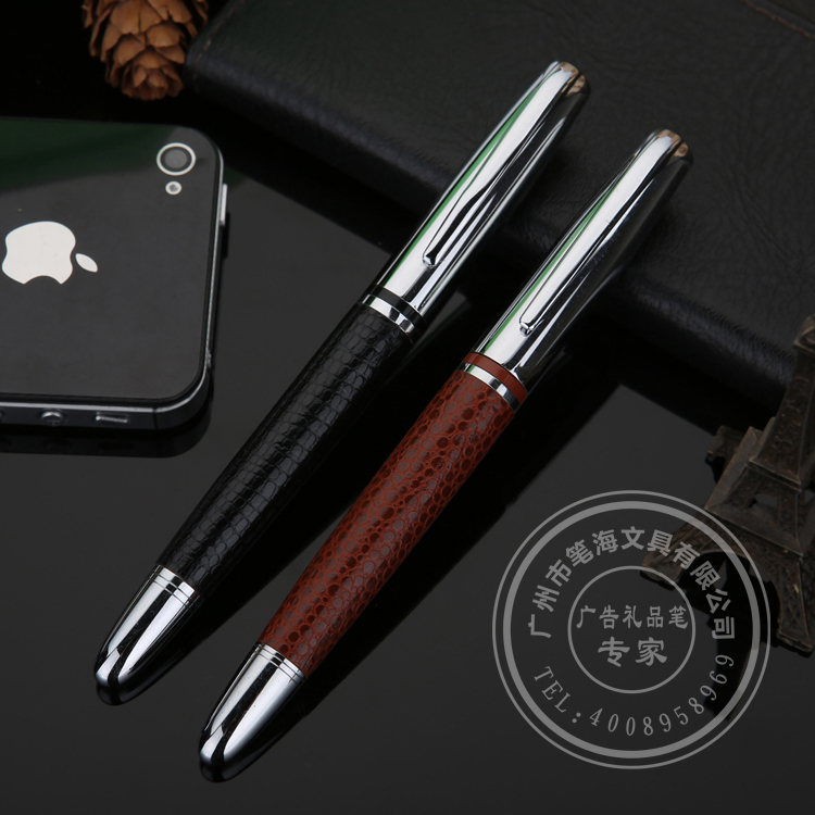 Free shipping customized Logo with leather business custom pens<br><br>Aliexpress