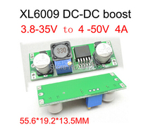Free shipping  3.8-35V to 4.0-50V XL6009 module DC-DC Adjustable Step-up Power Converter Module XL6009
