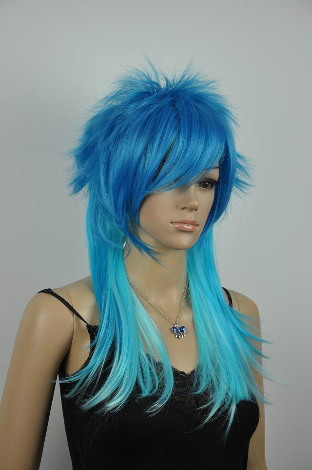 Hot heat resistant Kanekalon Party hair FREE SHIPPING&gt;&gt;new health blue Wig <br><br>Aliexpress