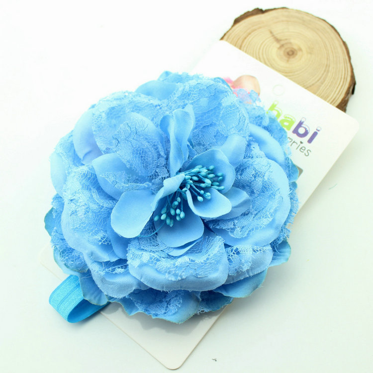 Wholesale Pretty Baby Big Lace Flower Headbands Fashion Infant Girls Floral Hair Accessories Newborn Baby Hairband(China (Mainland))