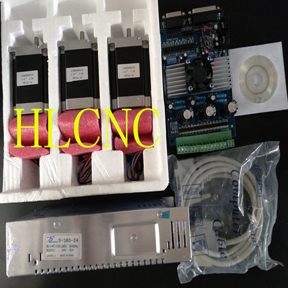 3Axis Nema 23 Stepper Motor 287oz-in & Driver Board TB6560 3.5A+ Power Supply 350W+ CNC KIT/ROUTER(China (Mainland))