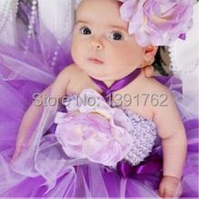 8 colors Infants Baby Girl Wedding Party Tutu Dresses Set With Headband Flower Girl Dress Baby Clothing Christmas Tutu NB to 2T(China (Mainland))