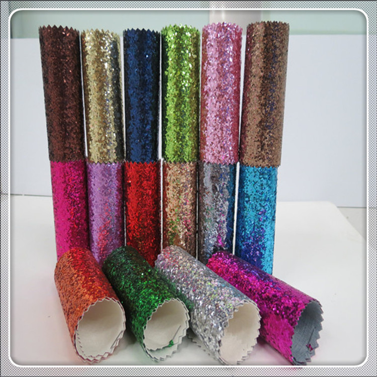 Best Selling High Quality Sparlky Chunky Glitter Leather Fabric wallpaper children wall papers the wall(China (Mainland))