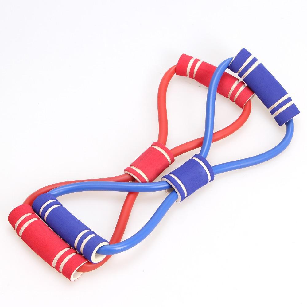 Fitness Resistance Bands Latex Exercise Tubes Elastic Training Rope Yoga Pilates Sport equipment Free Shipping(China (Mainland))