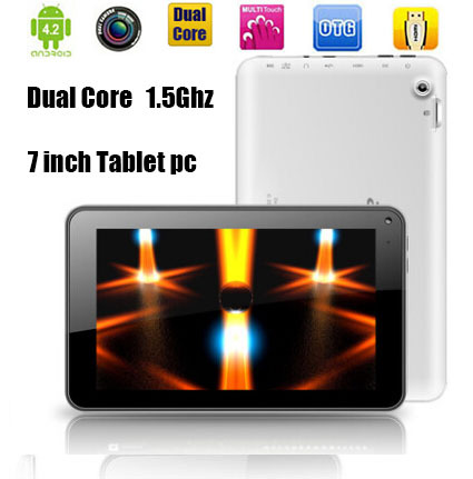 7 inch Tablet pc Dual Core Allwinner A23 Cortex A8 android 4.4 8GB dual camera Free shipping(China (Mainland))