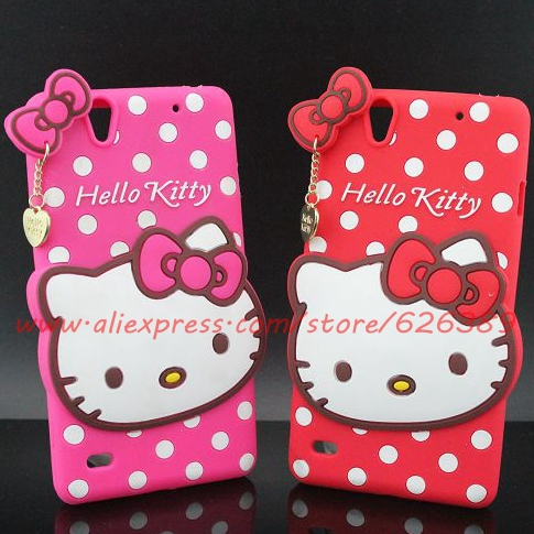 For Sony Xperia C4 Case Soft Rubber Silicone Hello Kitty Cell Phone Cases Cover For Sony C4(China (Mainland))