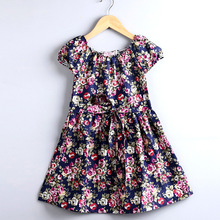 Girls Clothes! Girl Children's Clothes, Mother Daughter Dresses Clothes Short-sleeved Dress Small Floral Casual Wear B00058