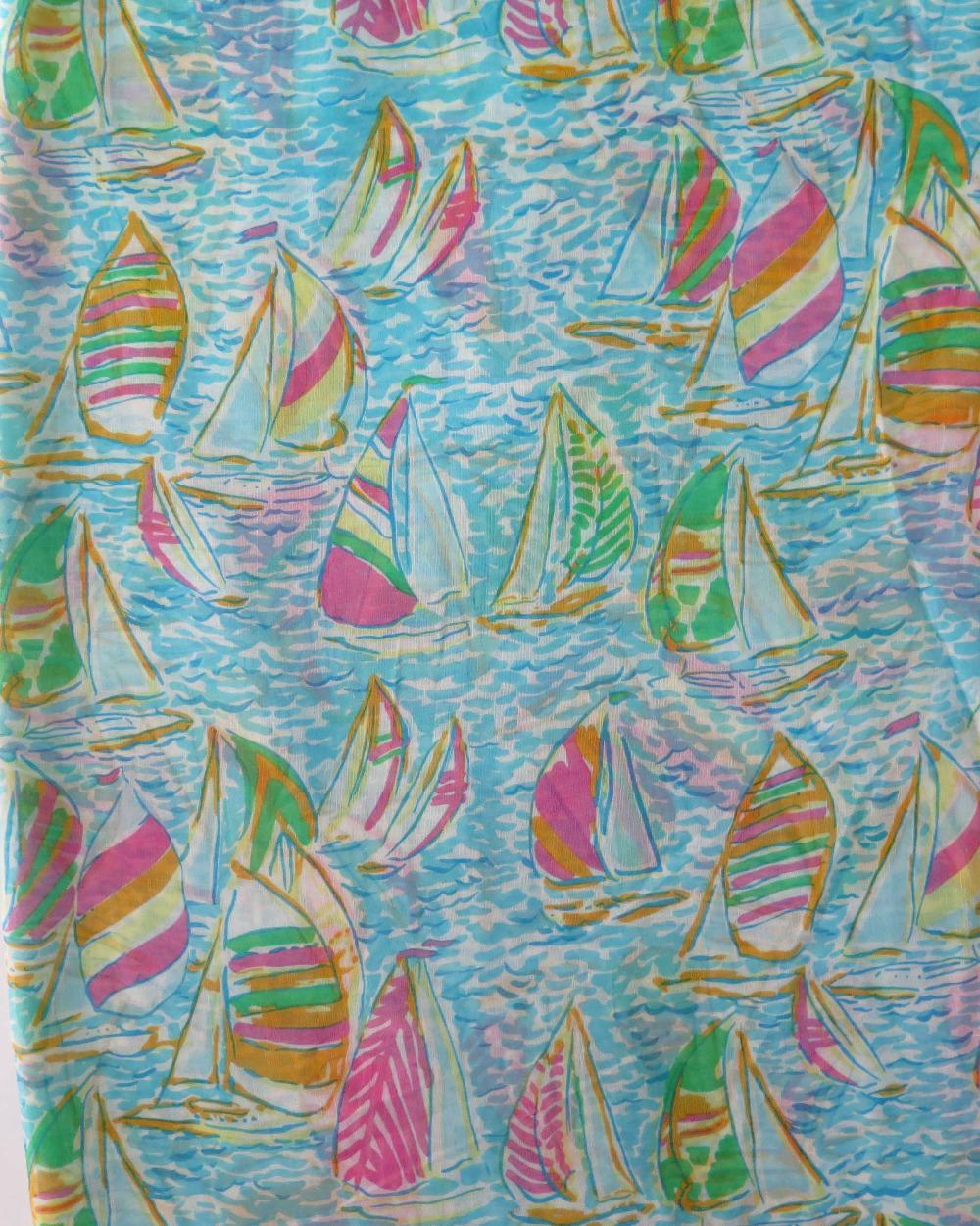 Парусник море печать бесконечности цикл шарф, бесплатная доставка