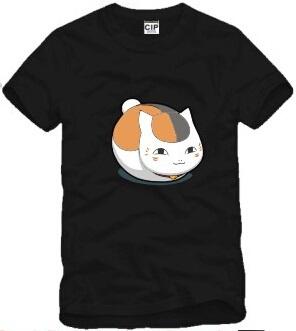Natsume Yuujinchou OVA cartoon Lucky Cat tshirt summer short teen clothing cotton t-shirt kids fashion t shirt for girls DC691(China (Mainland))