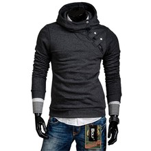 2015 Spring Fashion New Side Zipper Button Design Casual Hoodies Sweatshirts Men,Outerwear Hoodie Coat Male,3 Color,Plus Size(China (Mainland))