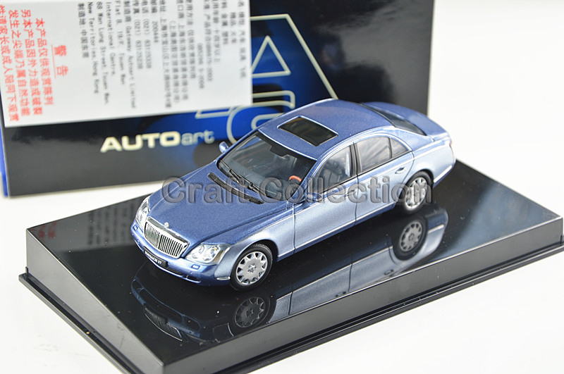 Фотография Blue 1:43 AutoArt AA Maybach 57 S SWB Alloy Car Model High-end Hot Sell Brand Minicar Luxury Gifts