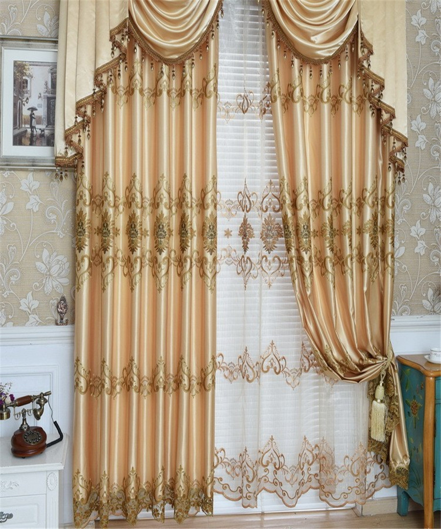 Buy quality modern embroidered curtain for Balcony curtains