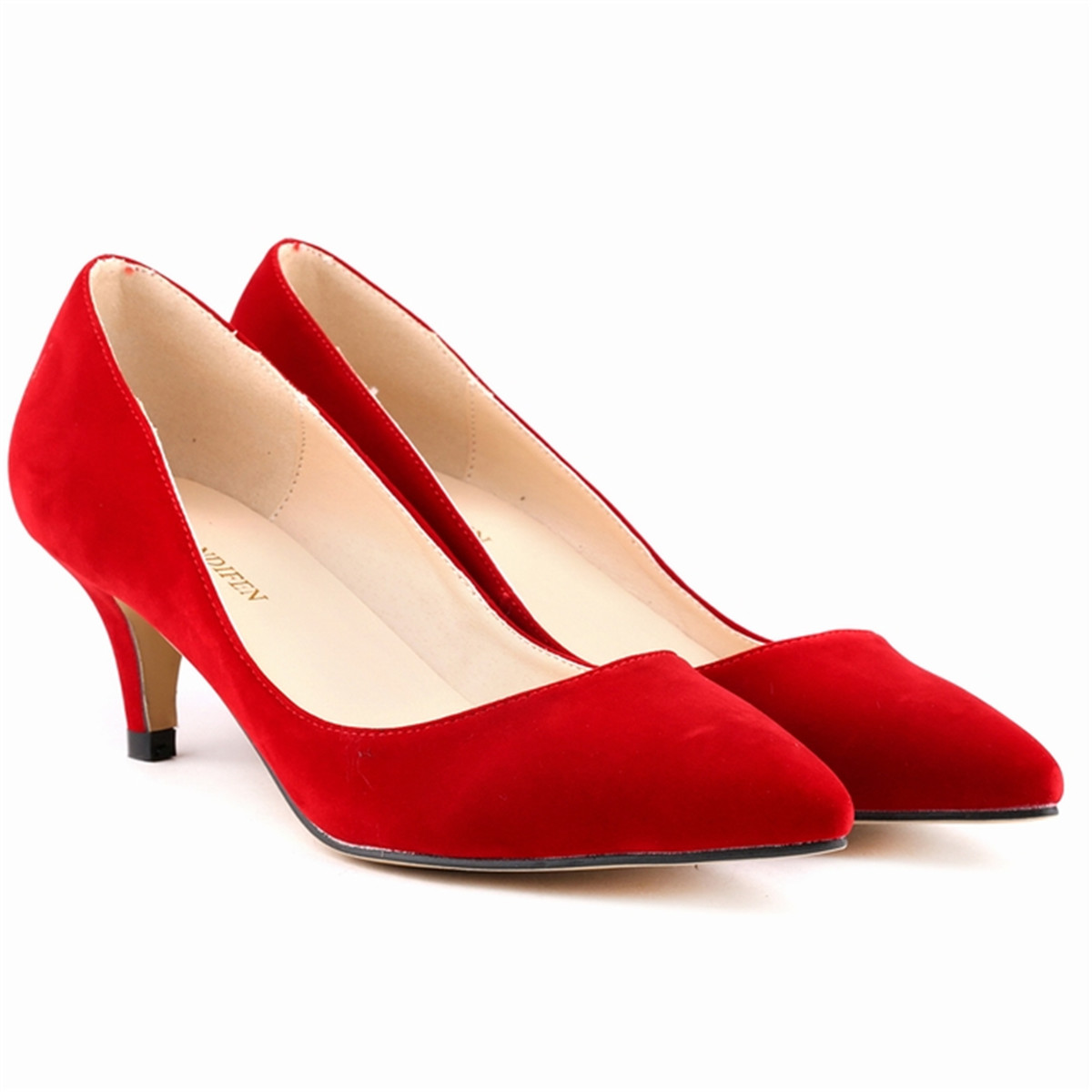 Red Shoes Small Heel  Tsaa Heel