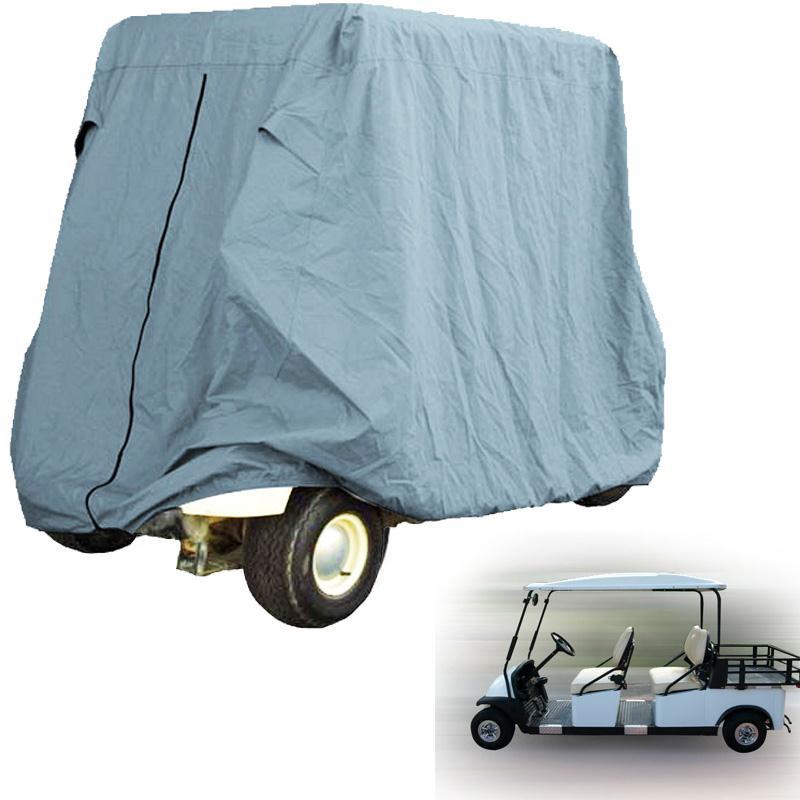 4- Passenger Waterproof Golf Cart Cover Fit EZ Go Club Car Yamaha Golf Cart Cart Gray-green Storage car styling Covers size L