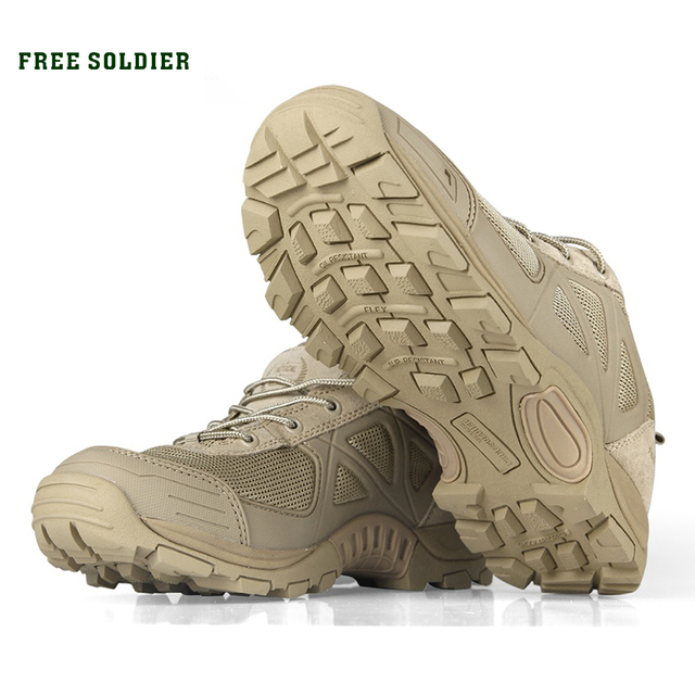 FREE SOLDIER outdoor sport shoes for men for climbing men's hiking boots mountain non-slip hiking shoes