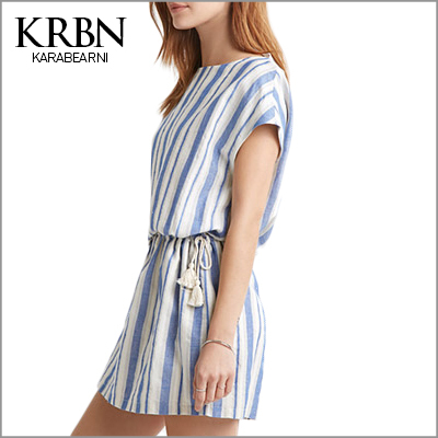 womens summer dresses 2015 summer plus size women clothing women dress casual vintage dress mini striped beach dress 15093-46(China (Mainland))