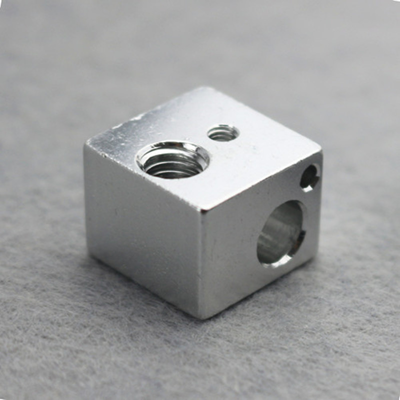 3D Printer Aluminium Heat Block for E3D J head 3D Printer RepRap Makerbot Extruder Kossel Delta