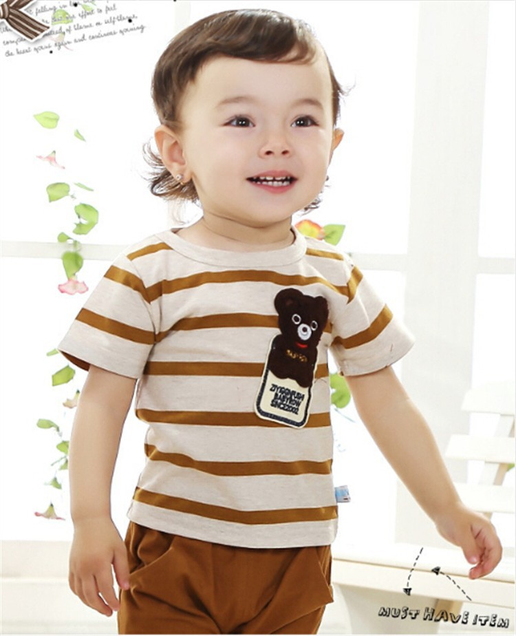 2015 new baby clothing suit baby boy girl clothes Bear
