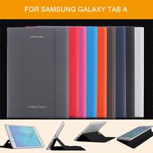 Тонкий оригинальный кожаный чехол для Samsung Galaxy Tab 9.7 с подставкой для Samsung T550 T555C