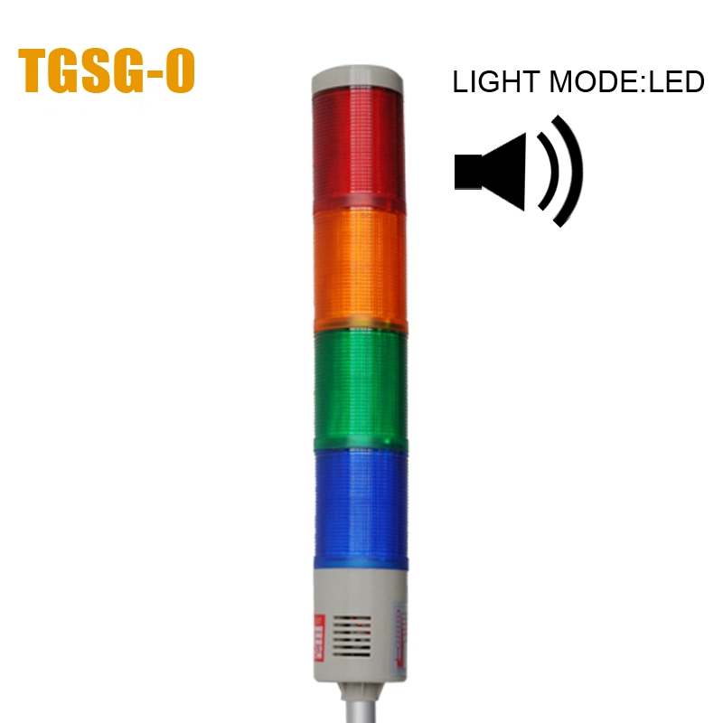 LTA-505 AC220V 4 Layers Security Warning Light LED Indicator Sound Alarm 90dB Strobe Lamp Emergency Beacon Tower Signal Light(China (Mainland))