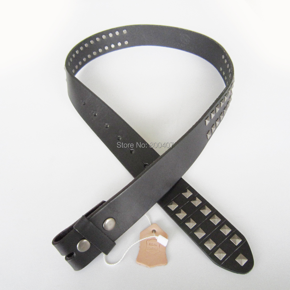 Wholesale Retail Black Studded Punk Rock Emo Black Snap On Belt Fast Delivery Free Shipping(China (Mainland))