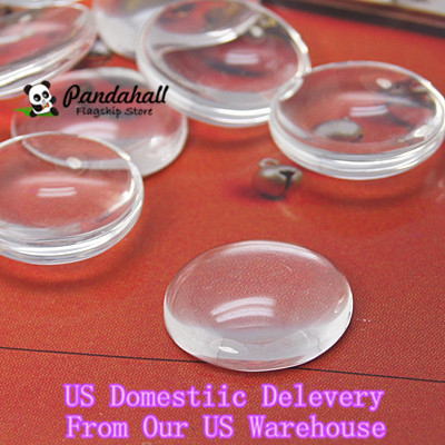 200pcs 14mm Dome Transparent Clear Glass Cabochons Cameo Settings Half Round Circle Flat Back embellishment DIY jewelry supplies(China (Mainland))