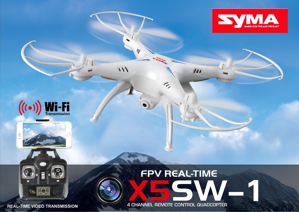 Bonus! SYMA X5SW / X5SW-1 WIFI RC Drone fpv Quadcopter with Camera Headless 6-Axis Real Time RC Helicopter Quad copter Toys(China (Mainland))