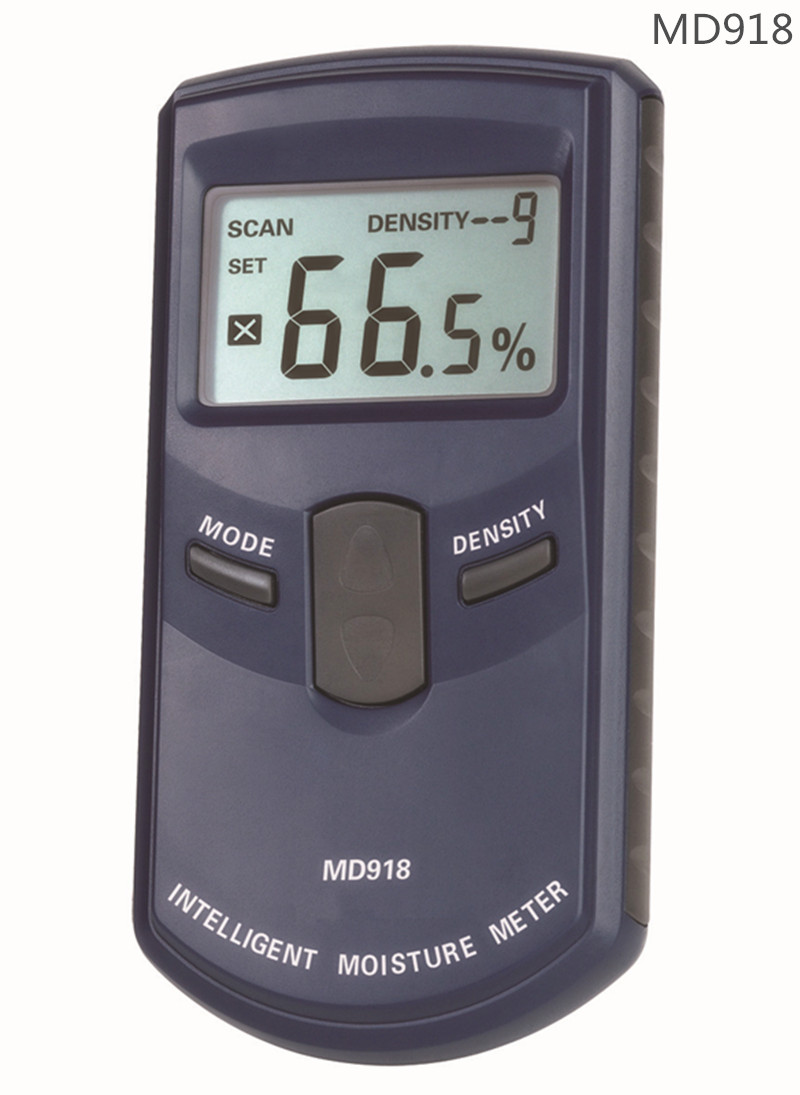 MD918 Digital LCD Inductive Wood Tree Timber Moisture Meter 4~80% 10 Timber Internet Humidity Tester Density ATC Resolution 0.5%(China (Mainland))